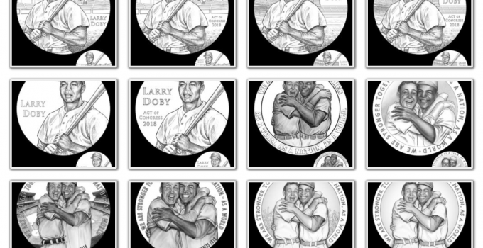 Larry Doby Congressional Gold Medal Design Candidates Released