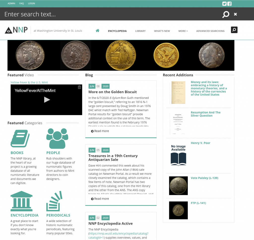 Newman Portal for Numismatic Research