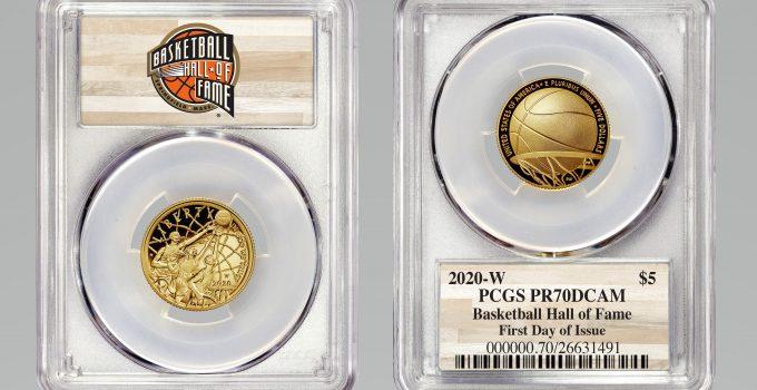 PCGS 2020 Basketball Hall of Fame $5