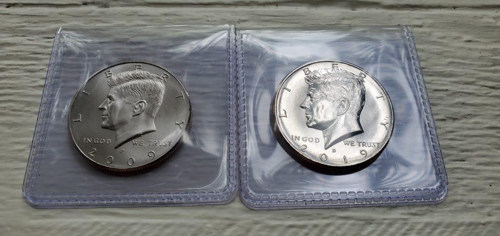 Satin and Regular Finish Kennedy Half Dollar