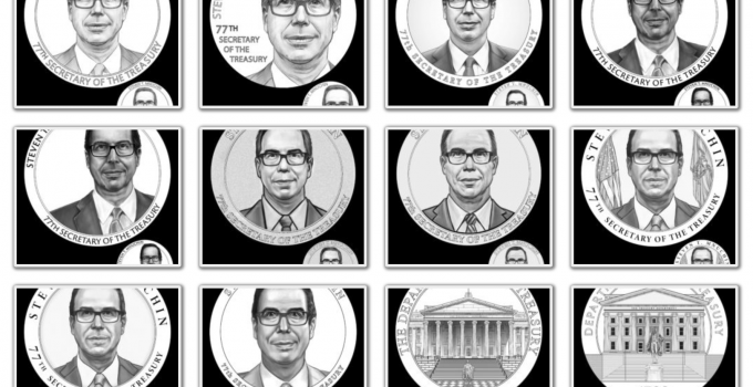Steven Mnuchin Secretary of the Treasury Medal