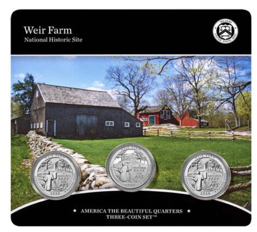 Weir Farm 3-Coin Set