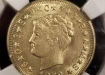 1879 Fake Stella Gold Coin Obverse