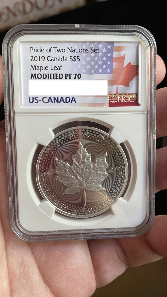 NGC Graded Silver Maple Leaf