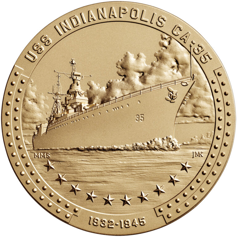 USS Indianapolis Bronze Medal Obverse