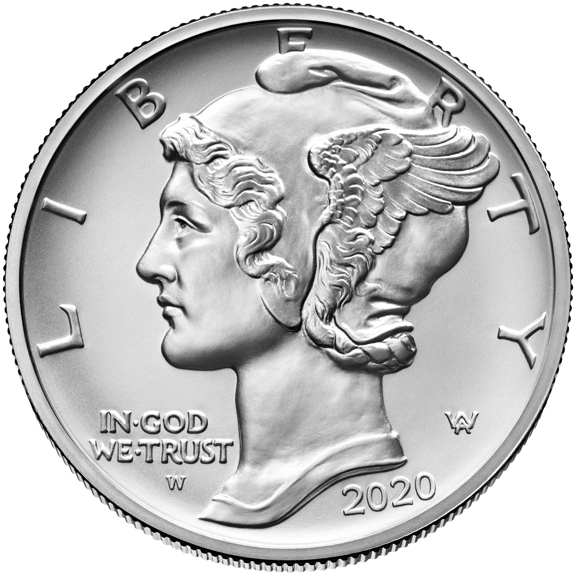 2020 American Eagle Palladium 1-Ounce Obverse (Image Courtesy of the United States Mint)