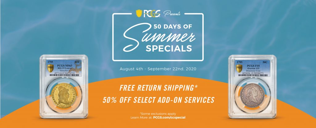 PCGS 50 Days of Summer Specials Graphics 1200x488