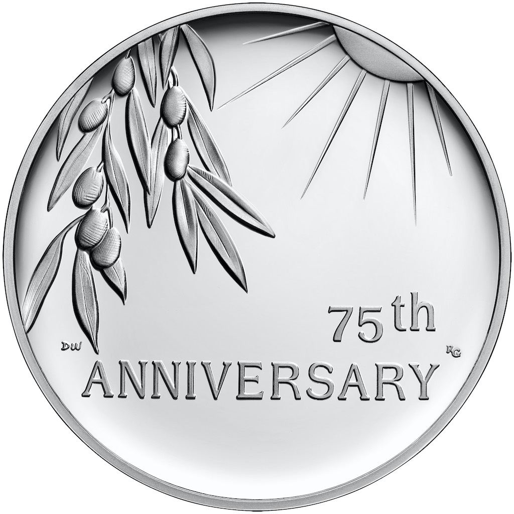2020 End of World War II Silver Medal Reverse (Image Courtesy of The United States Mint)