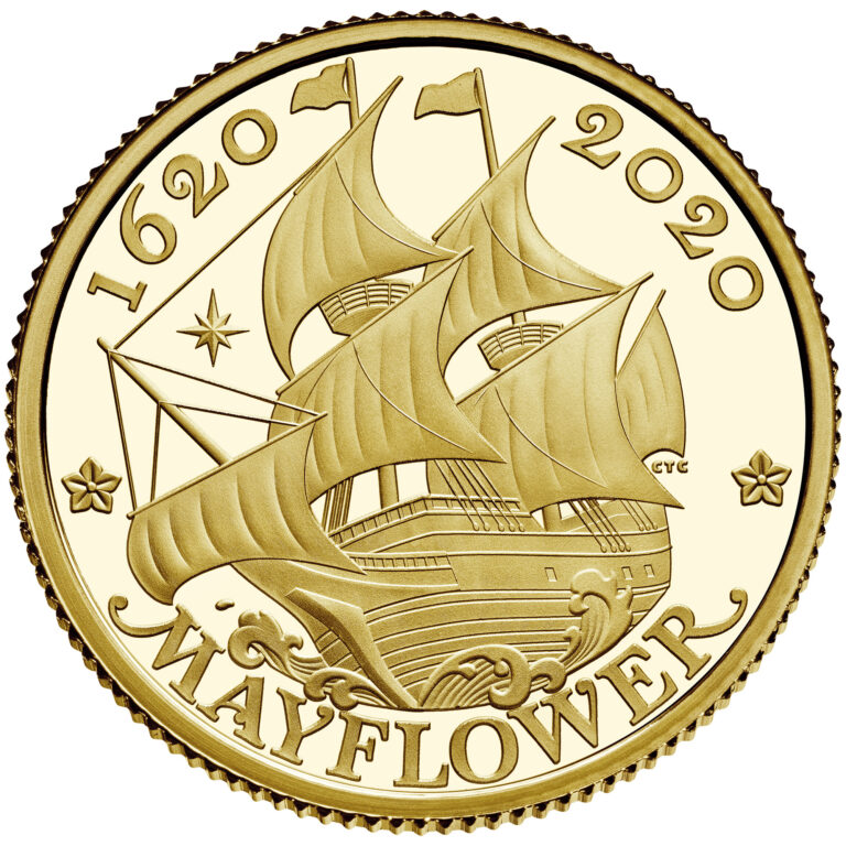 2020 Mayflower 400th Anniversary UK Gold Coin Reverse (Image Courtesty of The United States Mint)