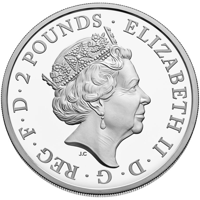 2020 Mayflower 400th Anniversary UK SIlver Coin Obverse (Image Courtesy of The United States Mint)