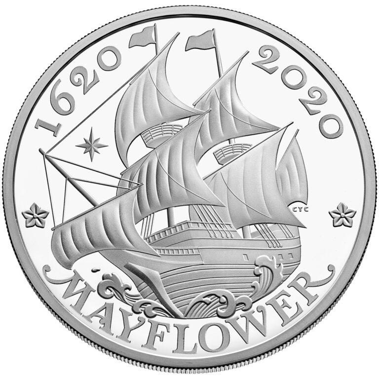 2020 Mayflower 400th Anniversary UK SIlver Coin Reverse (Image Courtesy of The United States Mint)