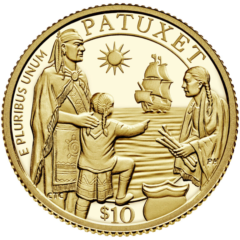 2020 Mayflower 400th Anniversary US Gold Coin Obverse (Image Courtesty of The United States Mint)