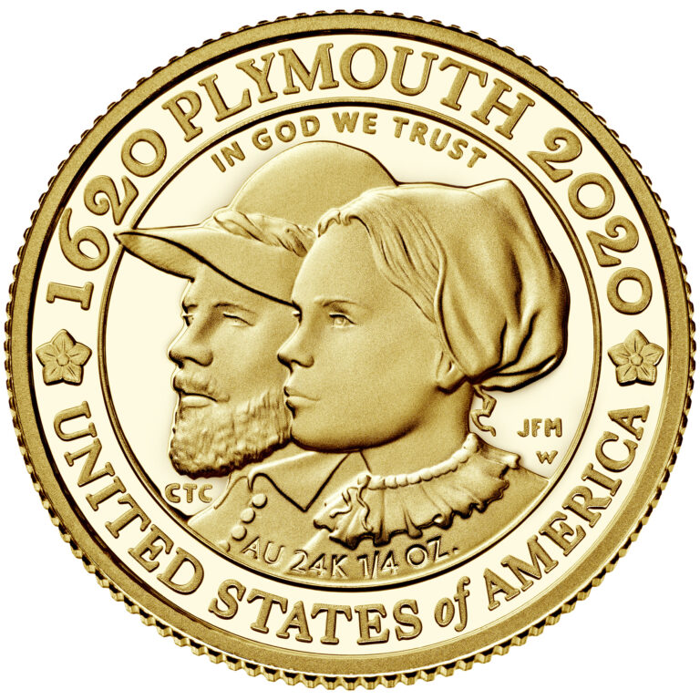 2020 Mayflower 400th Anniversary US Gold Coin Reverse (Image Courtesty of The United States Mint)