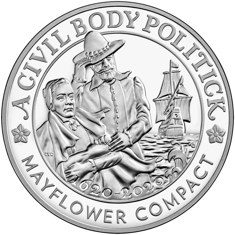 2020 Mayflower 400th Anniversary US Silver Medal (Image Courtesy of The United States Mint)