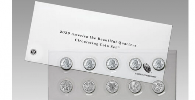 2020 America the Beautiful Quarters Circulating Coin Set