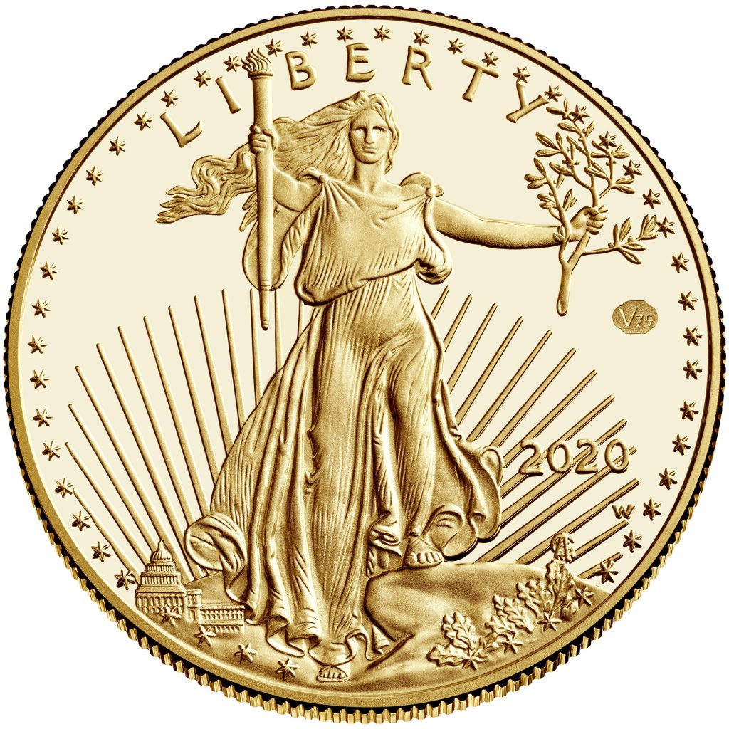 2020-W American Eagle End of World War II Privy Gold (Image Courtesy of The United States Mint)