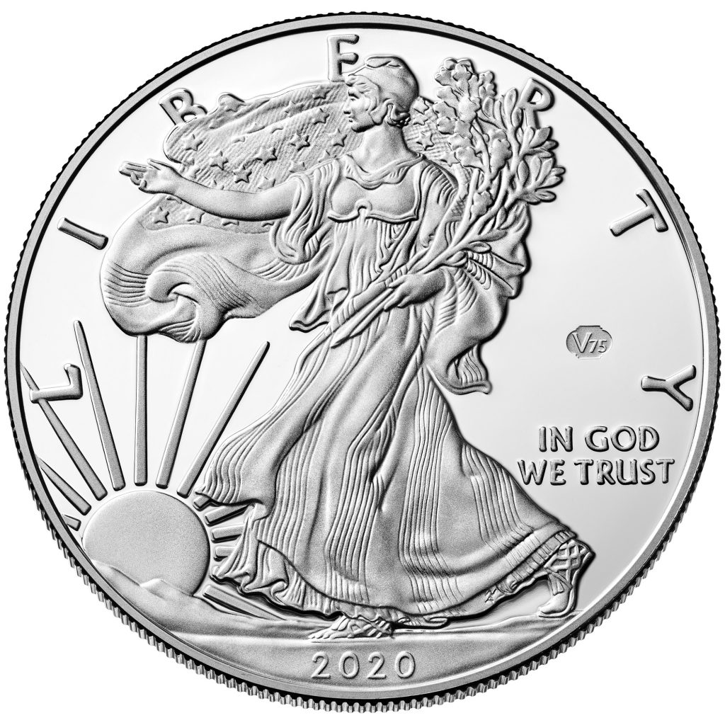2020-W American Eagle End of World War II Privy Silver (Image Courtesy of The United States Mint)