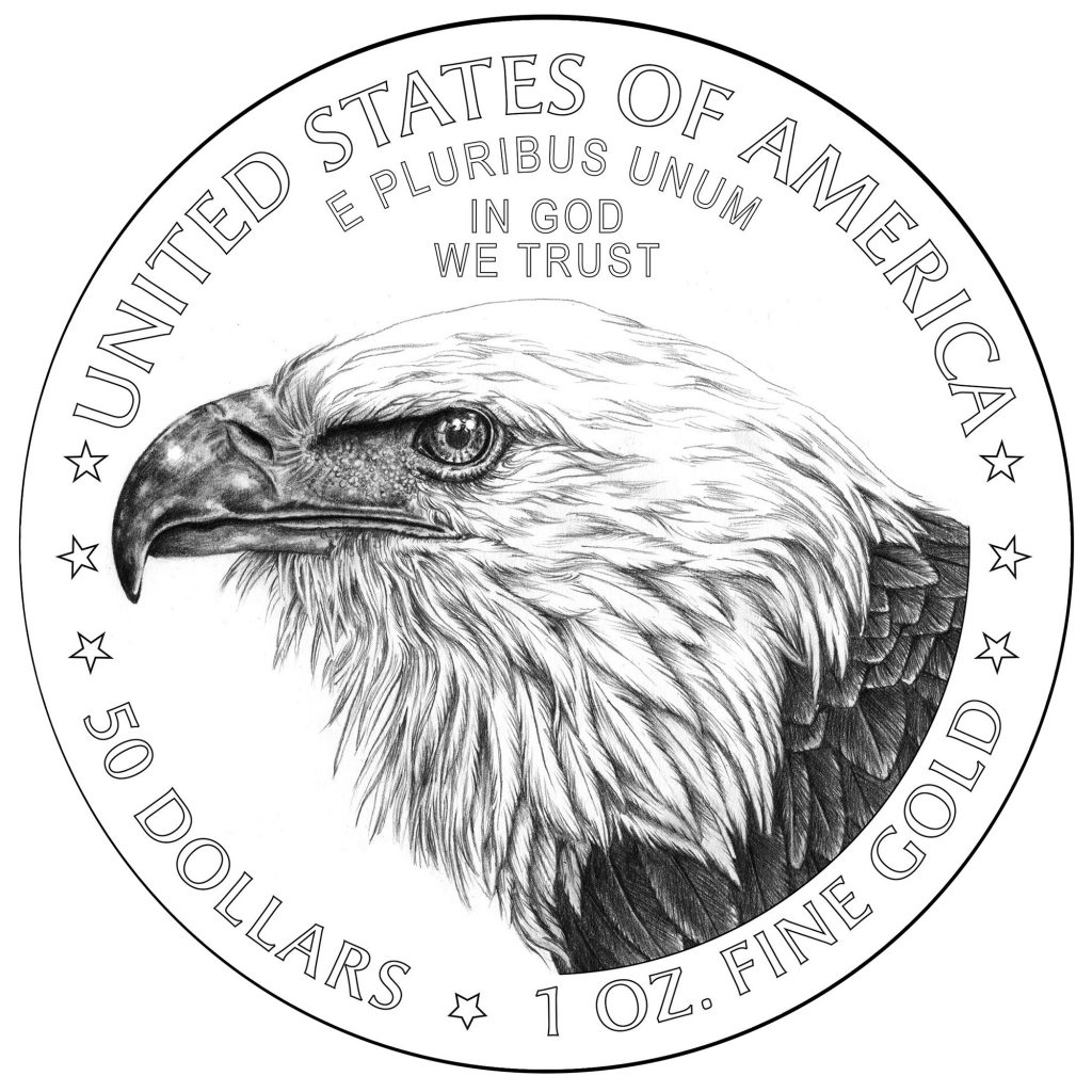 2021 American Eagle Gold Coin Reverse