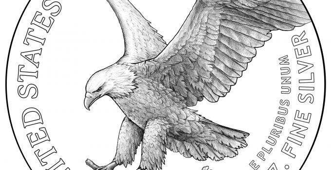 2021 American Eagle Silver Coin Reverse