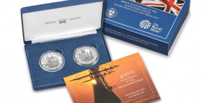 400th Anniversary Mayflower Voyage Silver Proof and Medal Set (Image Courtesty of the United States Mint)