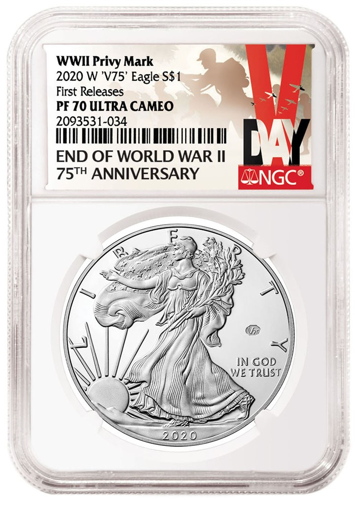 NGC 2020 American Eagle V75 Privy Mark Certified Coin (Image Courtesy of NGC)