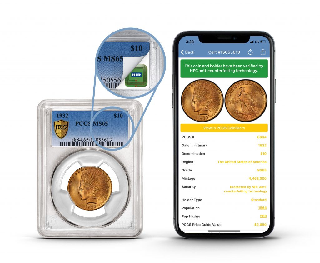 PCGS NFC and smartphone