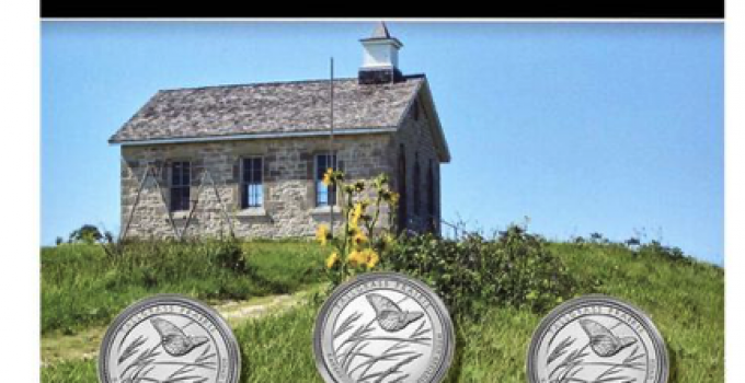 Tallgrass Prairie National Preserve America The Beautiful 3-Coin Set (Image Courtesty of The United States Mint