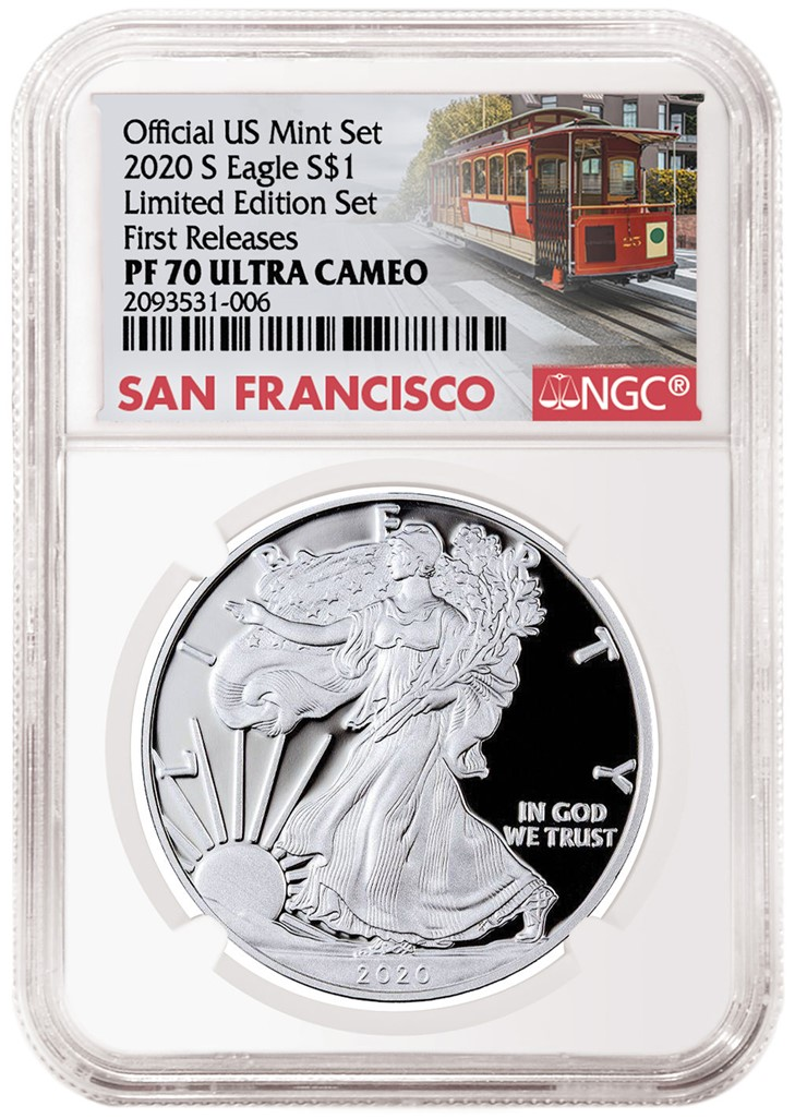 2020-W American Eagle from Limited Edition Silver Proof Set (Image Courtesty of NGC)