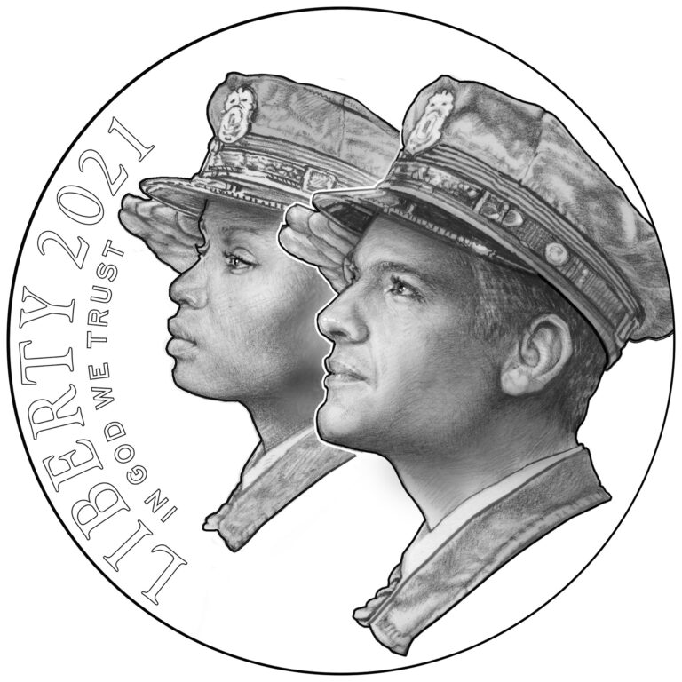 2021 National Law Enforcement Memorial and Museum Commemorative Gold Coin Obverse