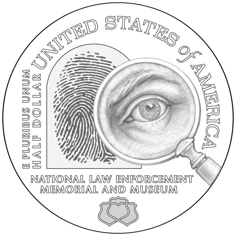 2021 National Law Enforcement Memorial and Museum Commemorative Half Dollar Reverse