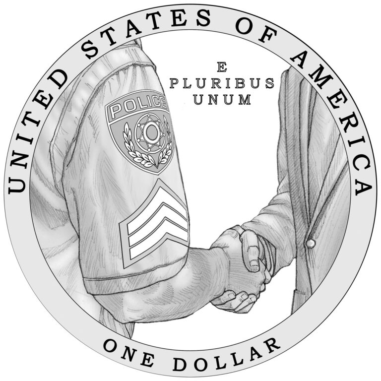 2021 National Law Enforcement Memorial and Museum Commemorative Silver Dollar Reverse