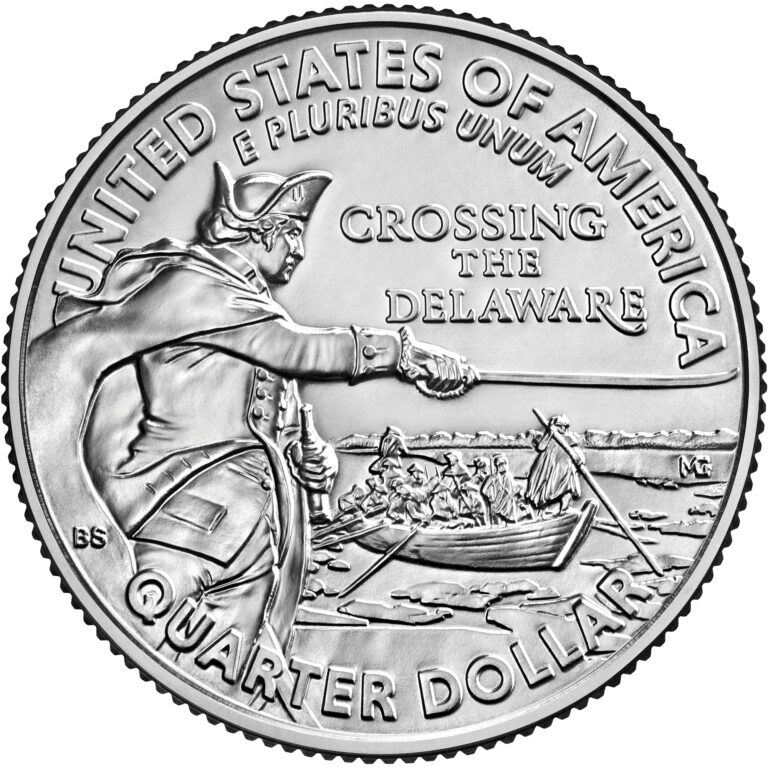 2021 Washington Quarter Reverse - Crossing The Delaware (Image Courtesy of The United States Mint