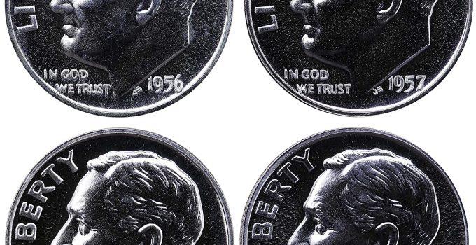 1956-1959 Roosevelt Dime 4-Coin Proof Set