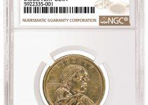 2014 Sacagawea-Presidential Dollar Mule Coin AU-58