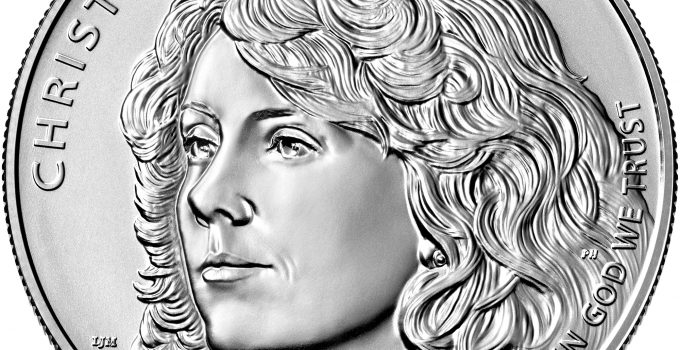 2021 Christa McAuliffe Commemorative Dollar Obverse (Image Courtesy of The United States Mint)
