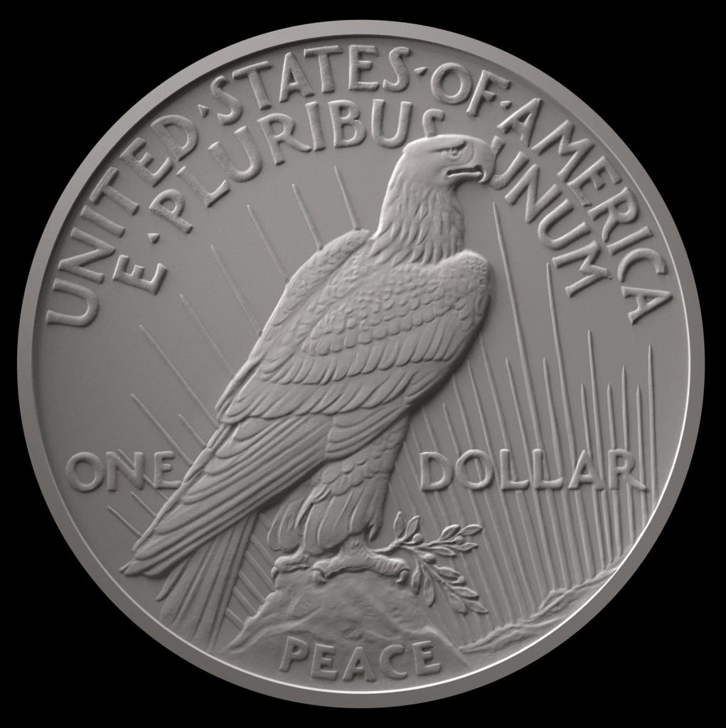 2021 Peace Dollar Reverse (Image Courtesy of The United States Mint)