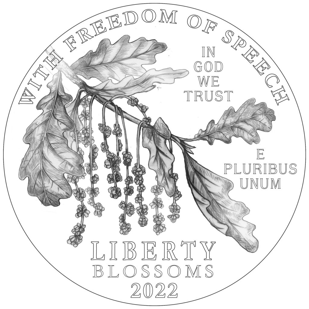 2022 American Eagle Platinum Obverse - Freedom of Speech