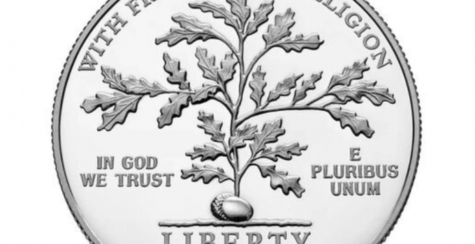 2021 American Eagle Platinum - First Amendment to the United States Constitution 2021 Platinum Proof Coin - Freedom of Religion (Image Courtesy of The United States Mint)