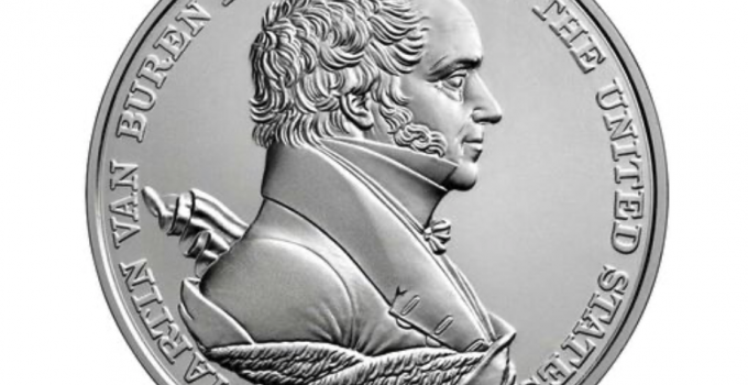 Martin Van Buren Presidential Silver Medal (Image Courtesy of The United States Mint)