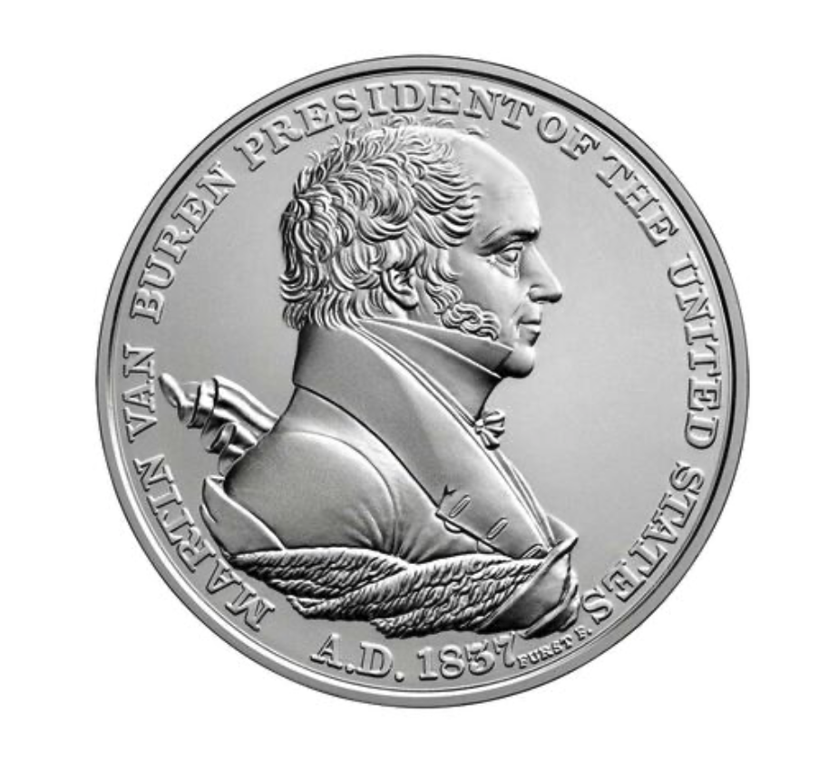 Martin Van Buren Presidential Silver Medal (Image Courtesy of The United States Mint)