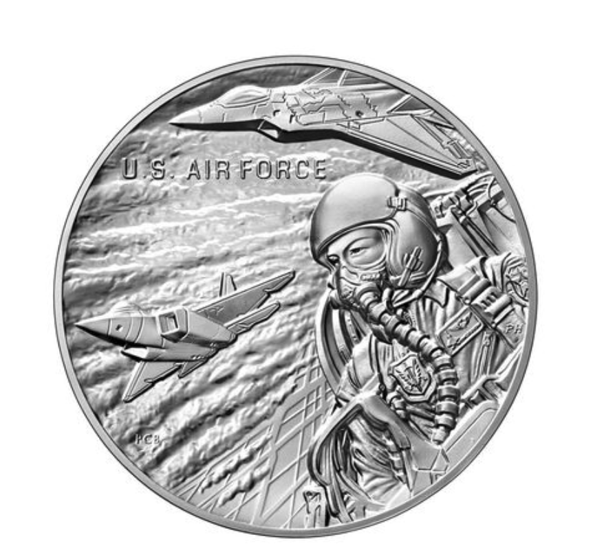United States Air Force Silver Medal Obverse (Image Courtesy of The United States Mint)
