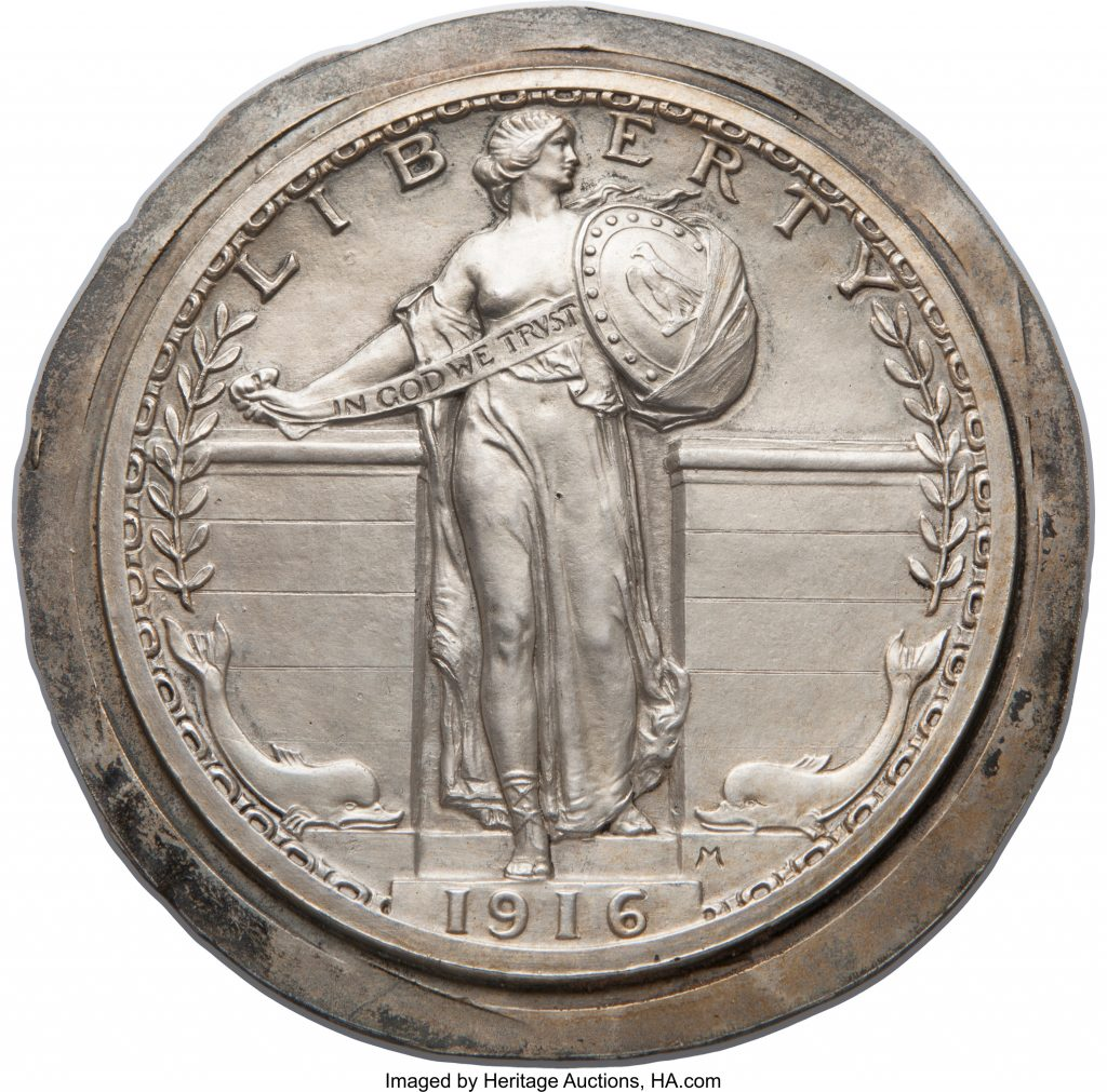 1916 Standling Liberty Quarter Obverse (Image Courtesty of Heratage Auctions)