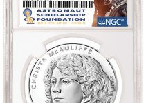2021 Christa McAuliffe Commemorative Early Release Label (Image Courtesy of NGC)