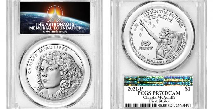 PCGS Offering Special Label Memorializing NASA Challenger Astronaut Christa McAuliffe