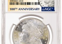 NGC 1921 Morgan Dollar 100th Anniversary Label (Image Courtesy of NGC)