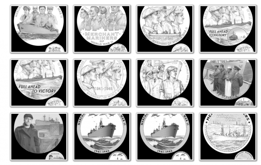 Merchant Mariners of World War II Congressional Gold Medal (Image Courtesy of The United States Mint) - Page 1