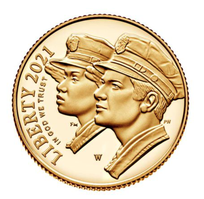 National Law Enforcement Memorial and Museum 2021 Proof $5 Gold Coin Obverse