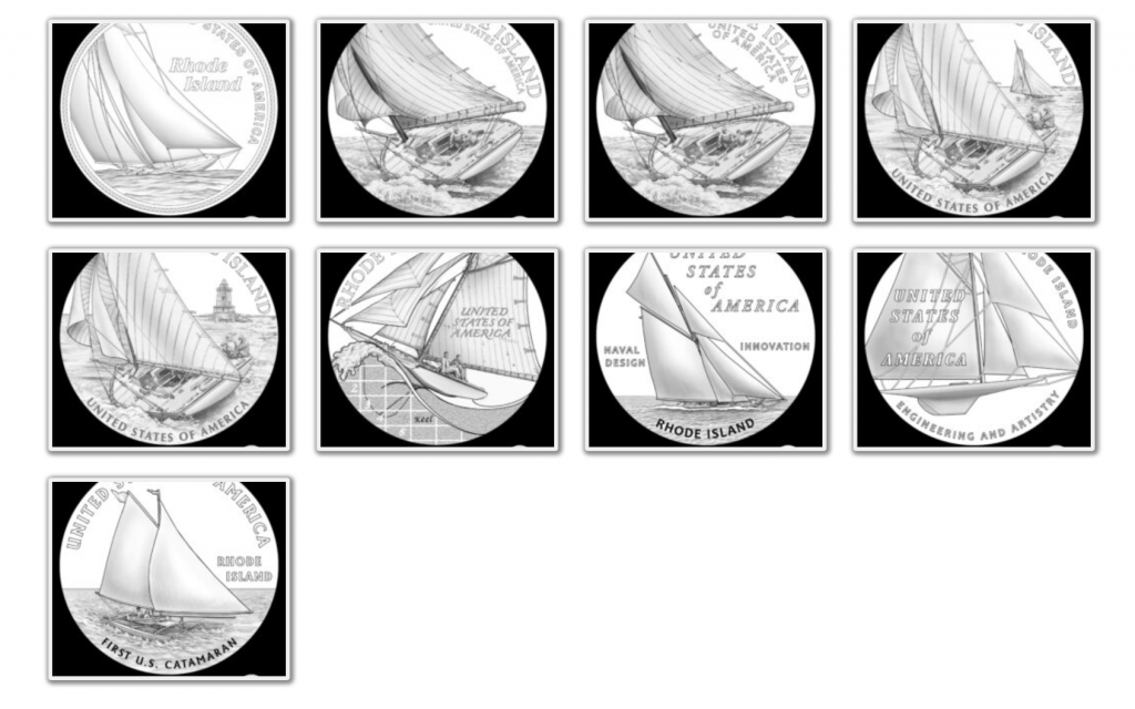 Rhode Island American Innovation Dollar Design Candidates (Image Courtesy of The United States Mint)