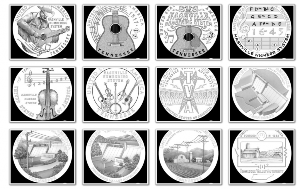 Tennessee American Innovation Dollar Design Candidates (Image Courtesy of The United States Mint) - Page 1