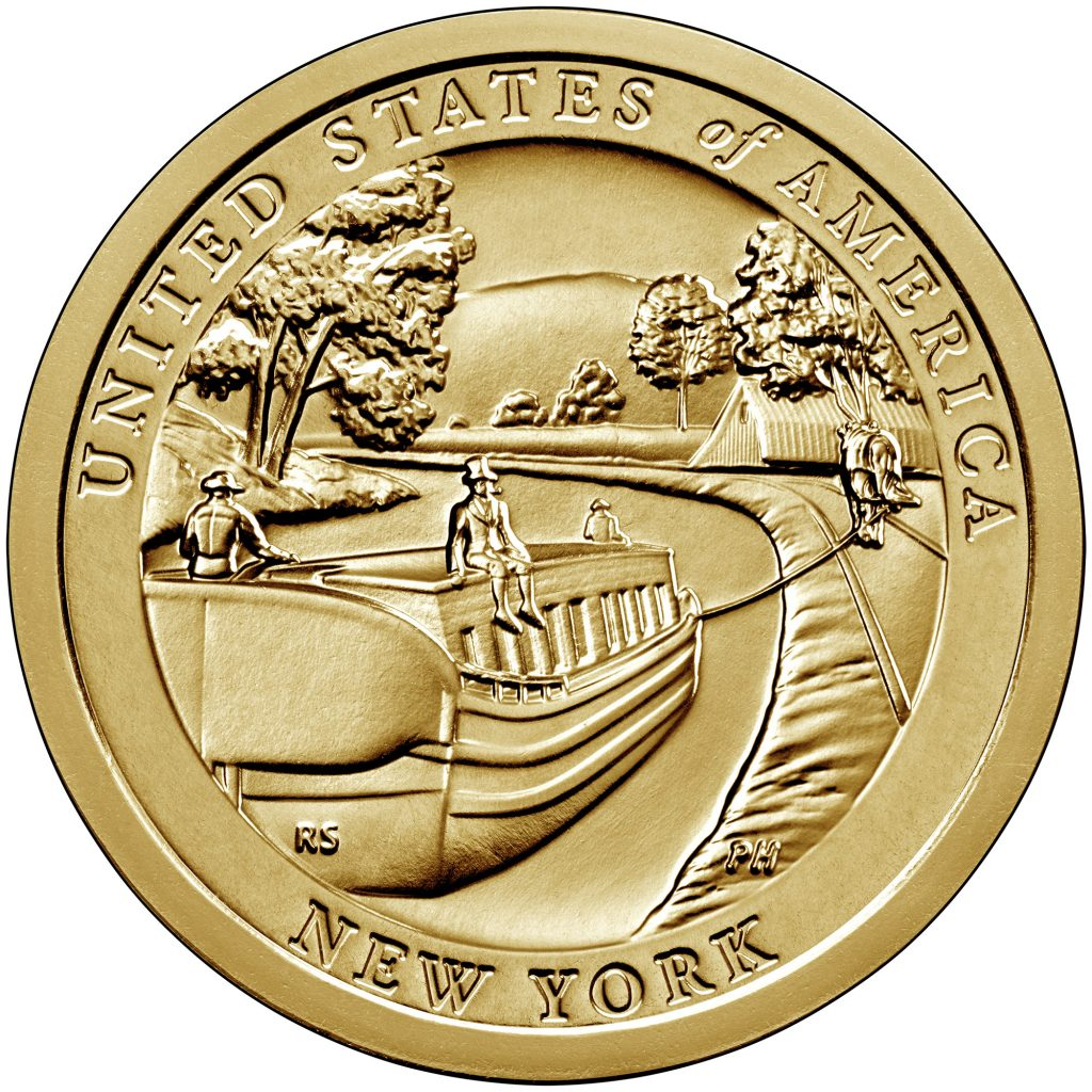 2021 American Innovation Dollar Reverse - New York (Image Courtesy of The United States Mint)